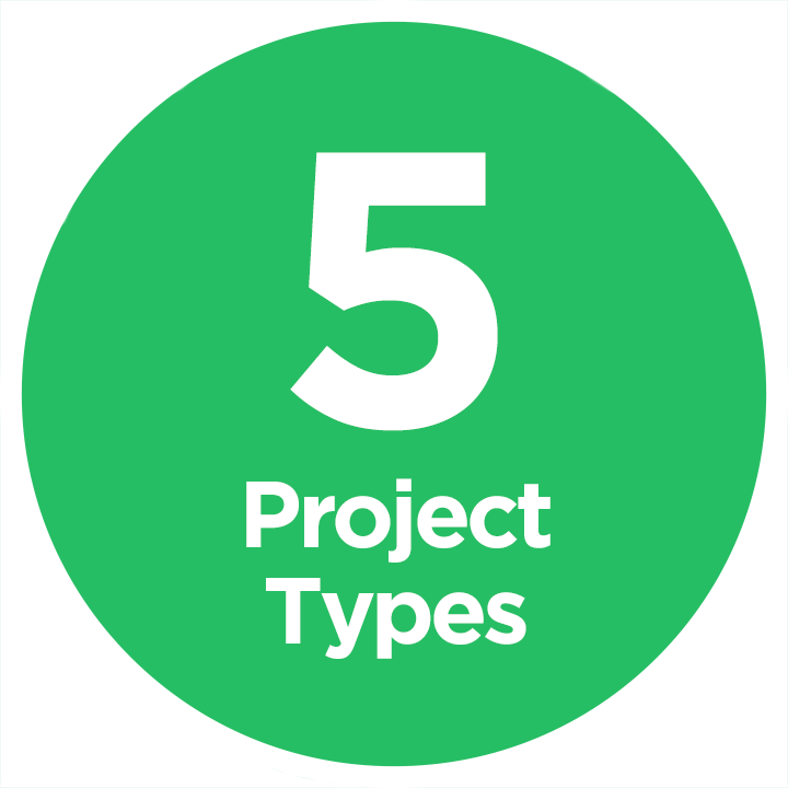 5 Project Types