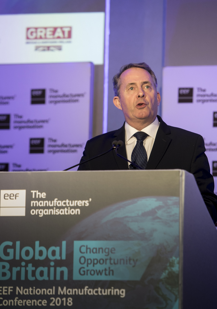 Liam Fox MP at the EEF Conference 2018