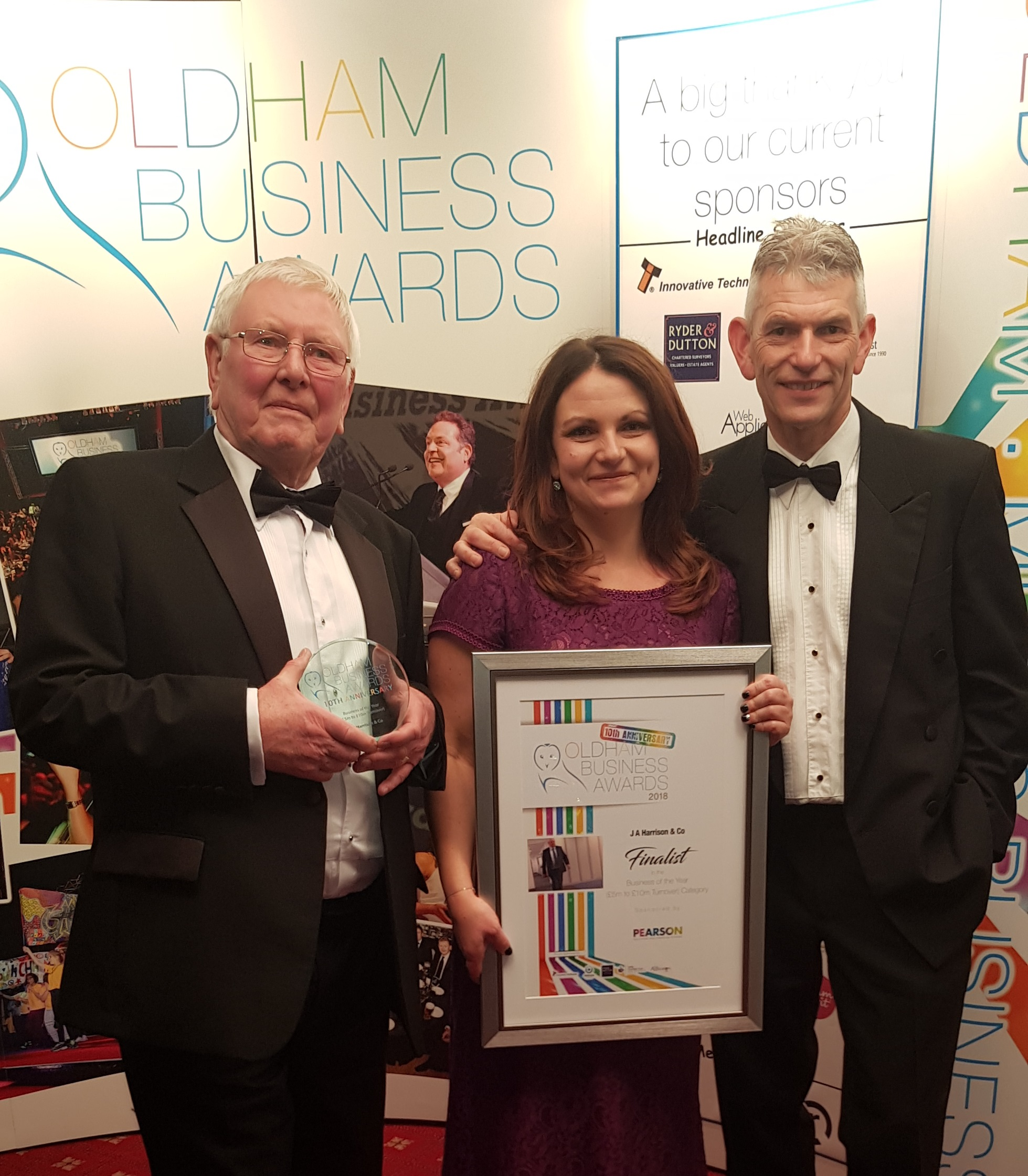 JA Harrison & Co win business of the year at Oldham Business Awards