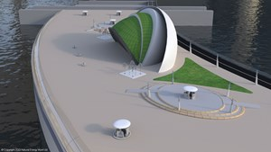 Artist's impression of the Wyre Tidal Barrage. Source: Natural Energy Wyre