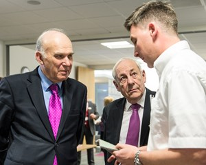 Newhey Carpets with Vince Cable